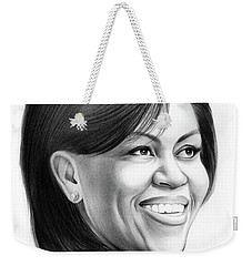 Michelle Obama Weekender Tote Bag by Greg Joens