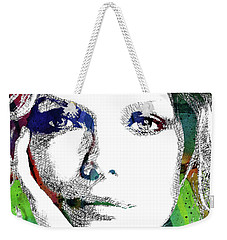 Michelle Pfeiffer Weekender Tote Bag by Mihaela Pater