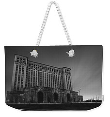 Michigan Central Station At Midnight Weekender Tote Bag