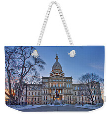Weekender Tote Bag featuring the photograph Michigan State Capitol by Nicholas Grunas