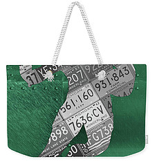 Michigan State Spartans Running Back Recycled Michigan License Plate Art Weekender Tote Bag
