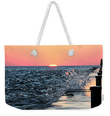 Weekender Tote Bag featuring the photograph Michigan Summer Sunset by Bruce Patrick Smith