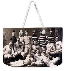 Michigan Wolverines Football Heritage 1888 Weekender Tote Bag by Daniel Hagerman