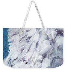 Weekender Tote Bag featuring the painting Mickey Cat by Julie Maas