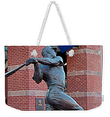 Mickey Mantle Weekender Tote Bag by Frozen in Time Fine Art Photography
