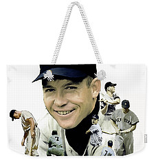 Mickey Mantle Legacy, II  Weekender Tote Bag by Iconic Images Art Gallery David Pucciarelli