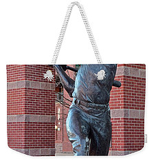 Mickey Mantle Plaza Weekender Tote Bag by Frozen in Time Fine Art Photography