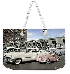 Micro Car And Cadillac Weekender Tote Bag