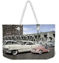 Micro Car And Cadillac Weekender Tote Bag