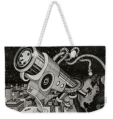 Microscope Or Telescope Weekender Tote Bag