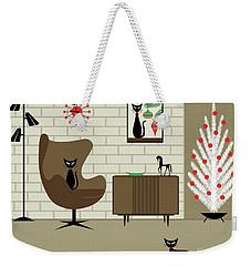 Mid-century Christmas Weekender Tote Bag