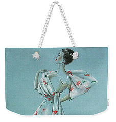 Mid-century Mode -- Drawing Of 1950's Fashion Weekender Tote Bag