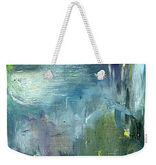 Weekender Tote Bag featuring the painting Mid-day Reflection by Michal Mitak Mahgerefteh