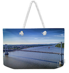 Mid-hudson Bridge In Spring Weekender Tote Bag