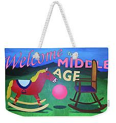 Middle Age Birthday Card Weekender Tote Bag
