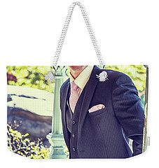 Middle Age Man Waiting For You Weekender Tote Bag