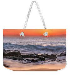 Middle Beach Sunrise Weekender Tote Bag