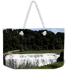Weekender Tote Bag featuring the photograph Middle Falls In Rochester New York by Rose Santuci-Sofranko