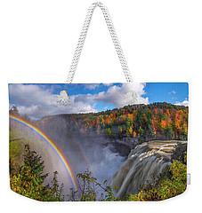 Middle Falls Rainbow Weekender Tote Bag