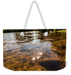 Middle Of The River Weekender Tote Bag