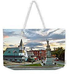 Middlebury Vermont At Sunset Weekender Tote Bag