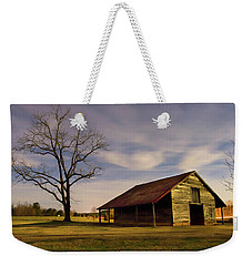 Weekender Tote Bag featuring the photograph Midnight At The Mule Barn by George Randy Bass