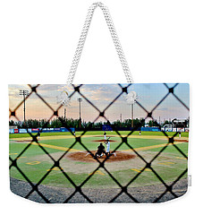 Weekender Tote Bag featuring the photograph Midnight Baseball by Benjamin Yeager