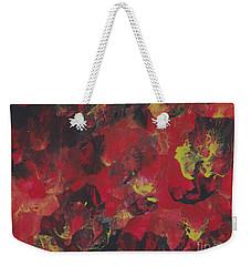 Midnight Blooms Weekender Tote Bag