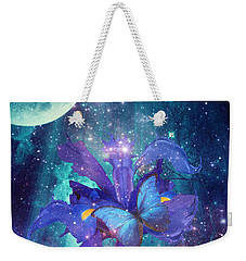 Midnight Butterfly Weekender Tote Bag by Mo T