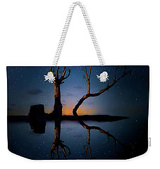 Weekender Tote Bag featuring the photograph Midnight Dance Of The Trees by Mark Andrew Thomas