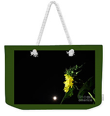 Weekender Tote Bag featuring the photograph Midnight Flower by Angela J Wright