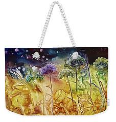 Midnight Flowers Weekender Tote Bag