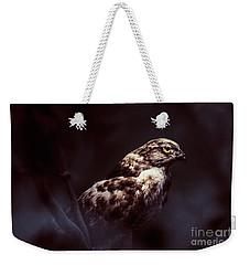 Midnight Hawk Weekender Tote Bag