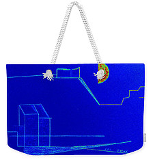 Weekender Tote Bag featuring the pastel Midnight In Les Baux by Bill OConnor