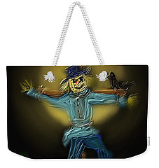 Weekender Tote Bag featuring the painting Midnight In The Cornfield by Kevin Caudill