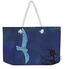 Weekender Tote Bag featuring the painting Midnight by Manuel Sueess