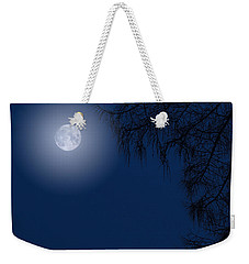 Midnight Moon And Night Tree Silhouette Weekender Tote Bag