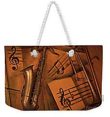 Midnight Music Weekender Tote Bag by AmaS Art