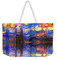 Midnight Oasis Weekender Tote Bag
