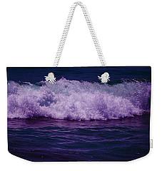 Midnight Ocean Wave In Ultra Violet Weekender Tote Bag