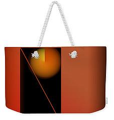Midnight Orange Weekender Tote Bag by John Krakora