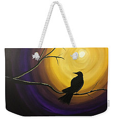 Midnight Raven Weekender Tote Bag