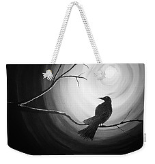 Midnight Raven Noir Weekender Tote Bag