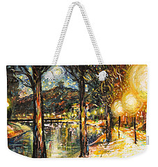 Midnight Reflections Weekender Tote Bag