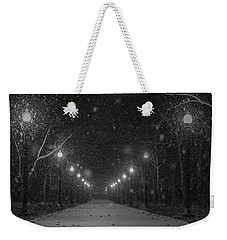 Midnight Snow Storm Weekender Tote Bag