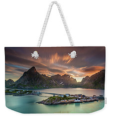 Midnight Sun Galore Weekender Tote Bag by Alex Conu