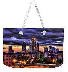 Midtown Atlanta Towers Over Atlantic Commons Art Weekender Tote Bag