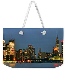 Weekender Tote Bag featuring the photograph Midtown Manhattan by Zawhaus Photography