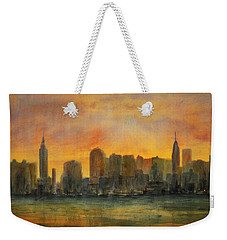 Midtown Morning Weekender Tote Bag