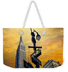 Weekender Tote Bag featuring the photograph Midtown Sunset by Chris Lord